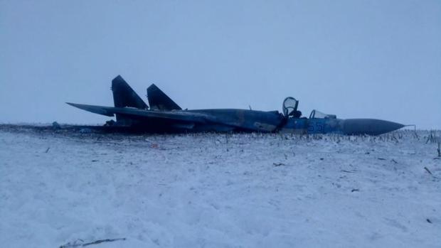 Падіння СУ-27 фото