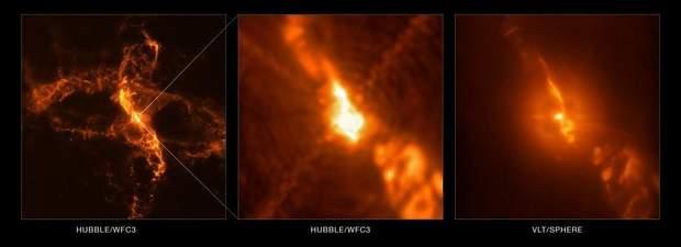 Знімки Hubble, які демонструють утворення супернової