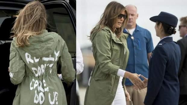 Меланія Трамп у скандальній куртці Panama Today