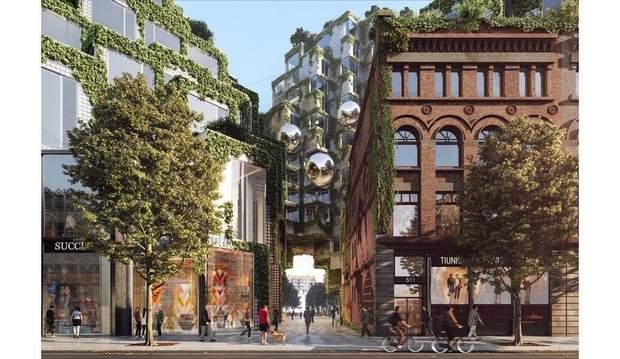 Тороно скляна цегла каскад BIG Architects