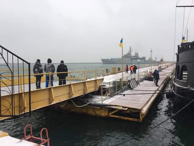 Корабель НАТО прибув в Україну