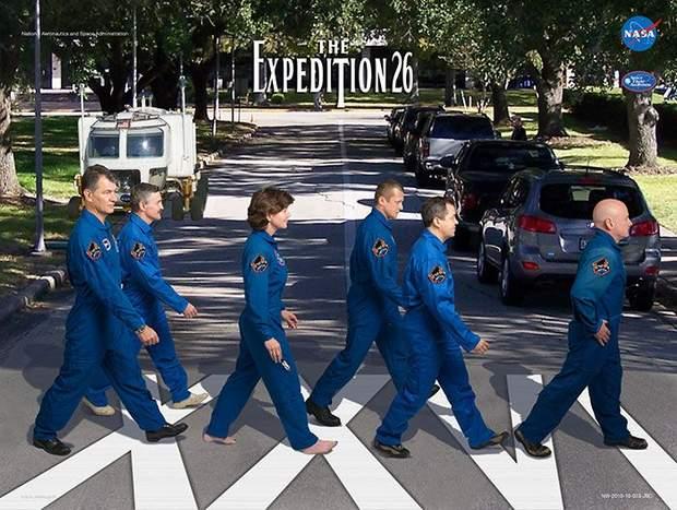Постер міжнародної місії NASA до МКС