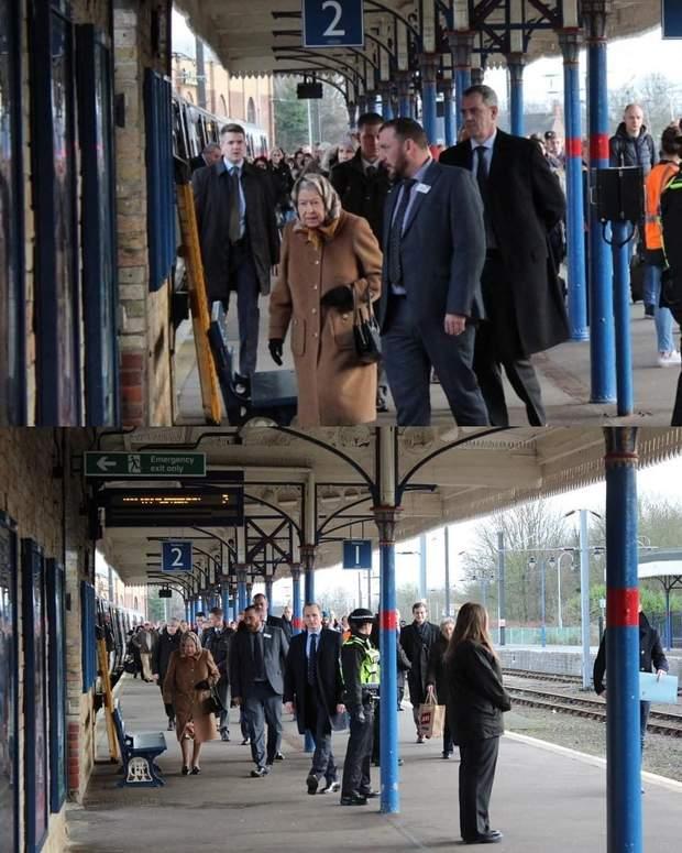 Королева Єлизавета подорожує поїздом