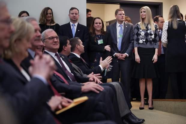 Донька Президента США Іванка Трамп на офіційній зустрічі