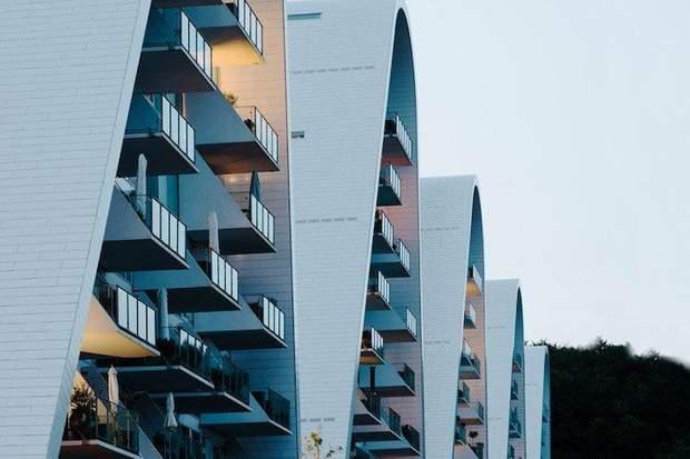 будинок хвиля Данія архітектура