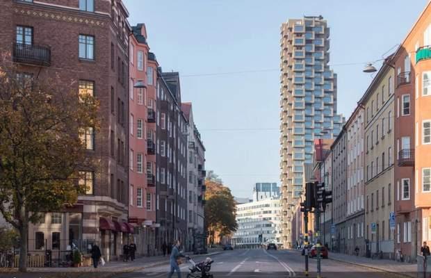 житловий хмарочос Стокгольм Швеція