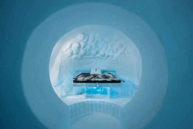 готель з льоду Швеція