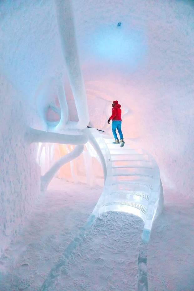 готель з льоду Швеція Лапландія