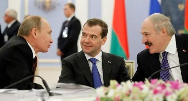 Путін, Медвєдєв, Лукашенко