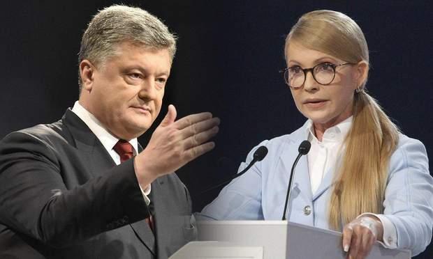 Петро Порошенко та Юлія Тимошенко