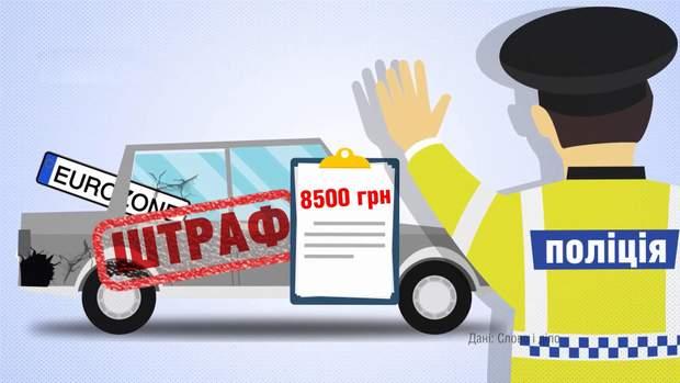 Штраф за нерозмитнине авто збільшиться до 8500 гривень