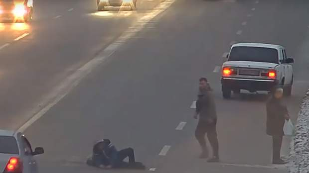 водій побив