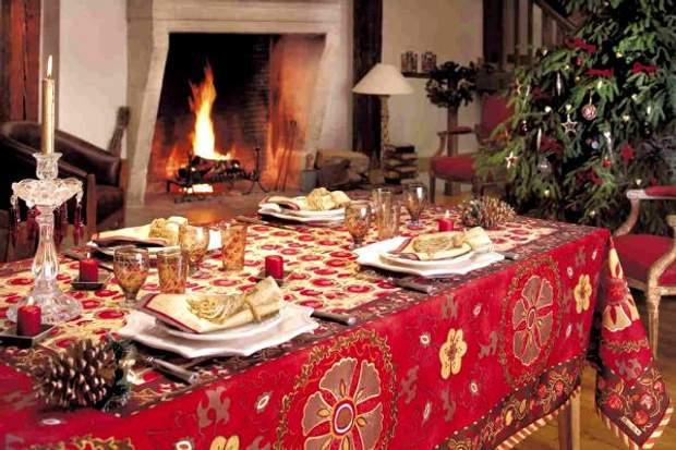 різдвяна скатертина