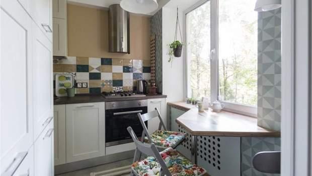підвіконня у маленькій кухні
