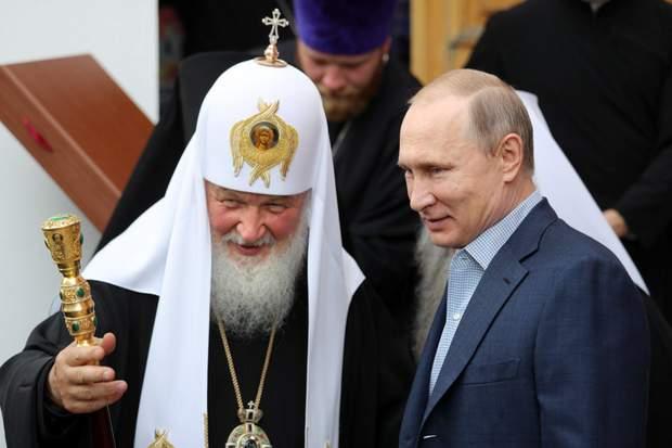 Глава російського православ'я патріарх Кіріл та Володимир Путін