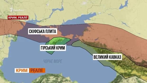 Тектонічні плити поблизу Керченської протоки