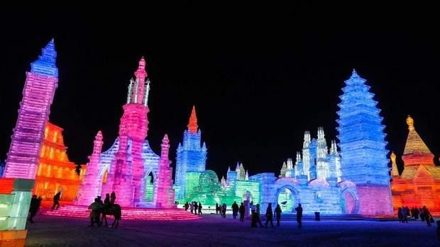 китай фестиваль льоду