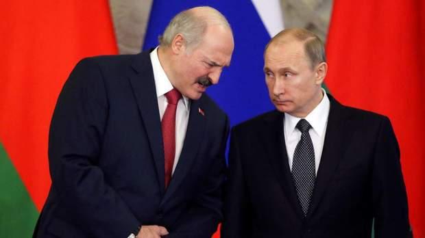 Олександр Лукашевич та Володимир Путін