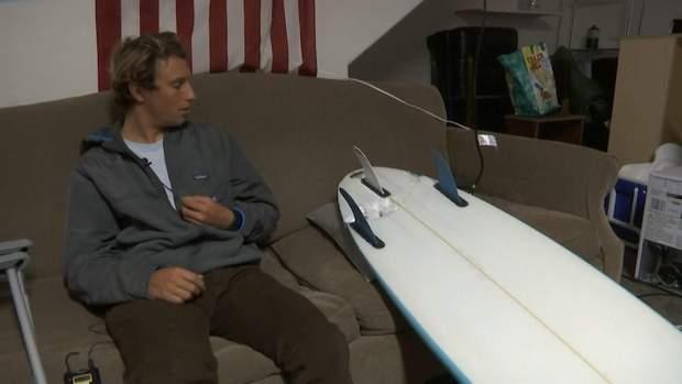 Акула прокусила дошку для серфінгу та травмувала хлопцю ноги