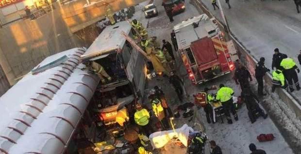 ДТП, Канада, автобус, жертвы, Оттава