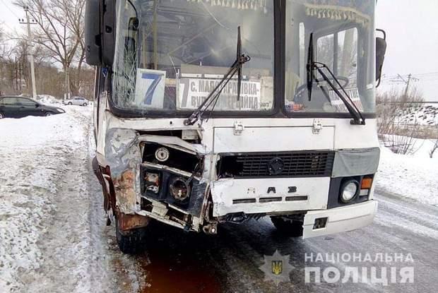 ДТП з рейсовим автобусом у Краматорську