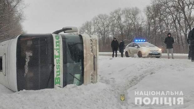 Автобус, ДТП, Чернігівщина, Київ, Москва, потерпілі