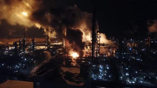 Пожежа, Калуш, хім завод, Карпатнафтохім, Івано-Франківськ