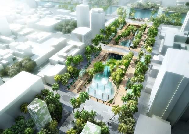 Тайвань Тайнань публічний простір торговий центр