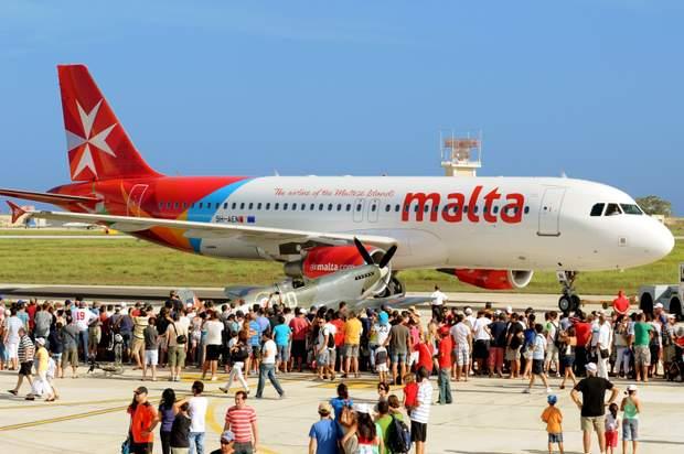 Літак авіакомпанії Air Malta