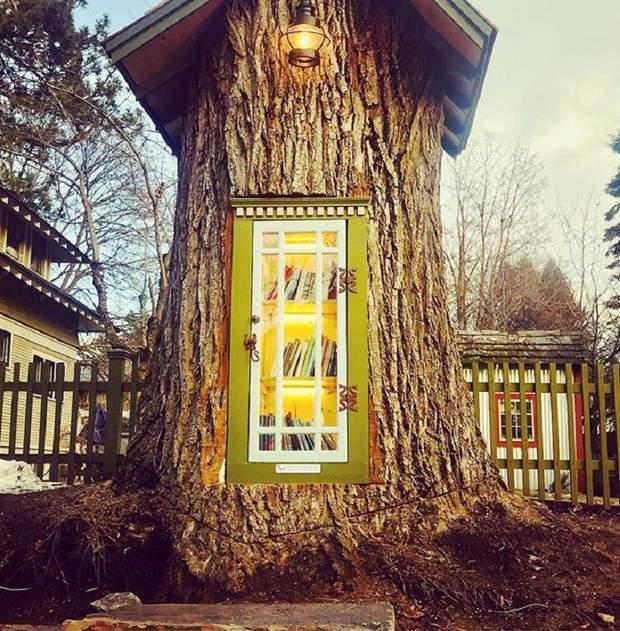 Чарівний будиночок-дерево для книг