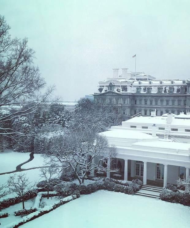 Меланія Трамп показала казкові зимові краєвиди з Білого дому