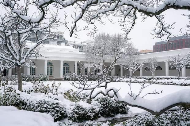 Резиденція Президента США взимку