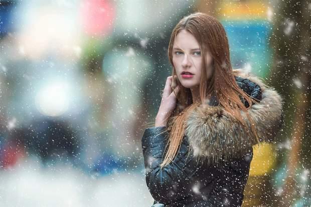 Зима дівчина