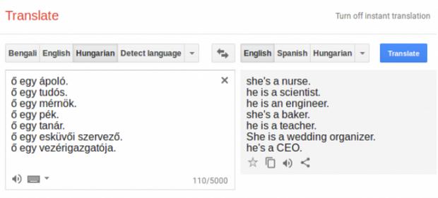 Приклад перекладу Google Translater