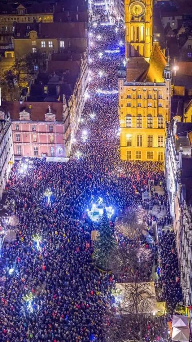 вбивство мера гданська мітинг
