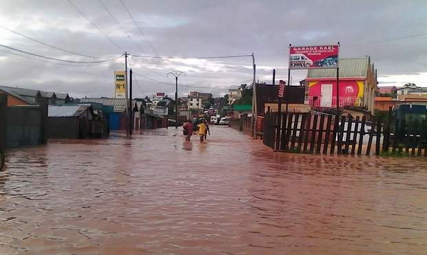 Повінь затопила будинки на Мадагаскарі