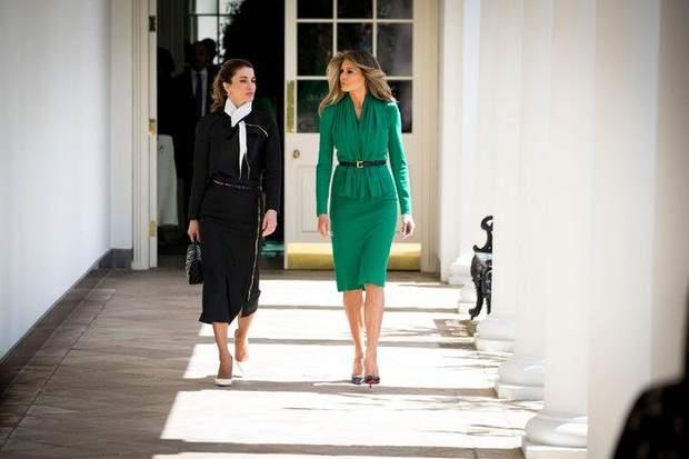 Меланія Трамп на зустрічі з королевою Ранією