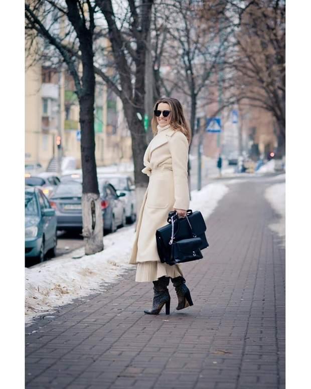 Наталія Могилевська пр=оказала зимовий образ