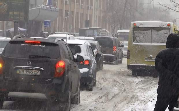 Сніг в Києві