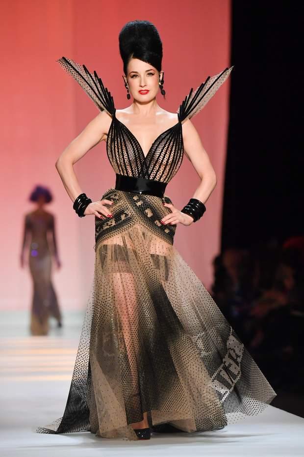Діта фон Тіз на Тижні моди у Франції