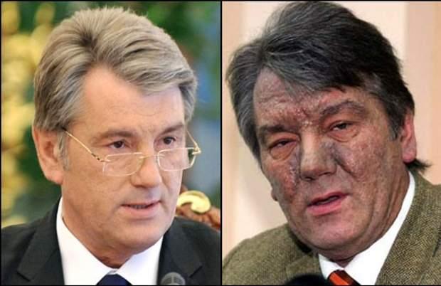 ющенко до та після отруєння діоксином