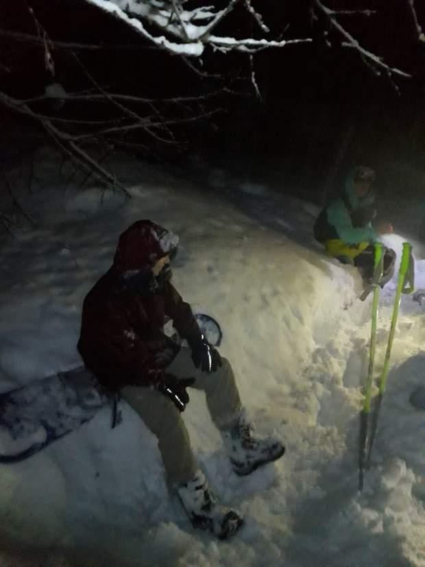 сноубордисти гориДСНС рятувальники туристи заблукали у горах
