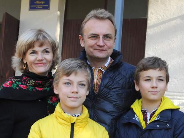 Андрі Садовий, дружина, родина