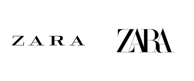 Логотип бренду Zara: 2011 та 2019 року