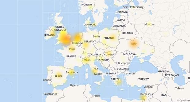У роботі Gmail трапився глобальний збій