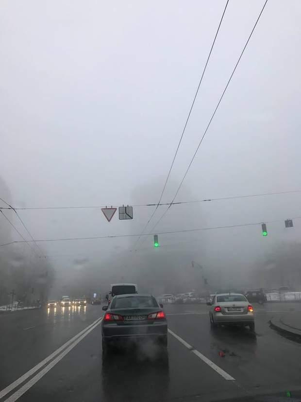 київ затори туман