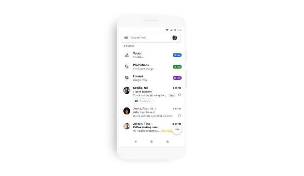 Мобільна версія Gmail змінює зовнішній вигляд