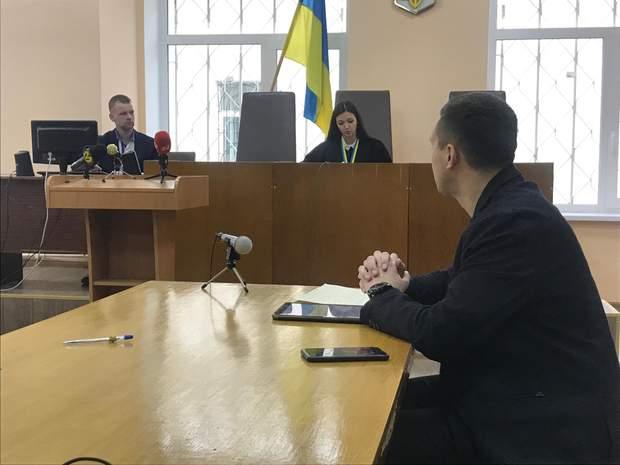 Сергій Стерненко у Дніпровському суді в Києві