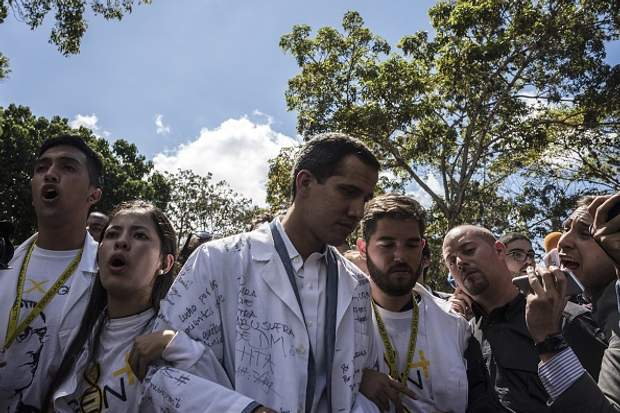 Лідер опозиції Венесуели Хуан Гуайдо