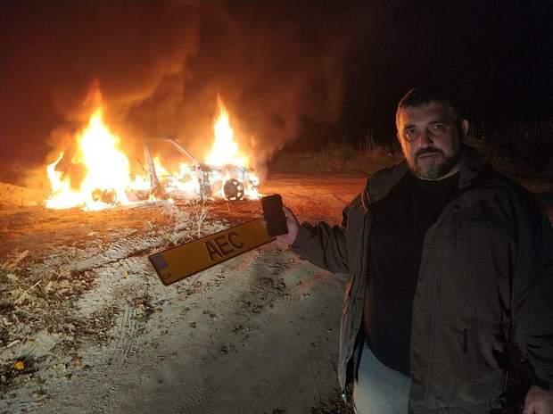 Олег Ярошевич, піар, спалив авто
